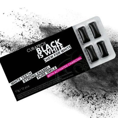 Curaprox Black is White kramtomoji guma
