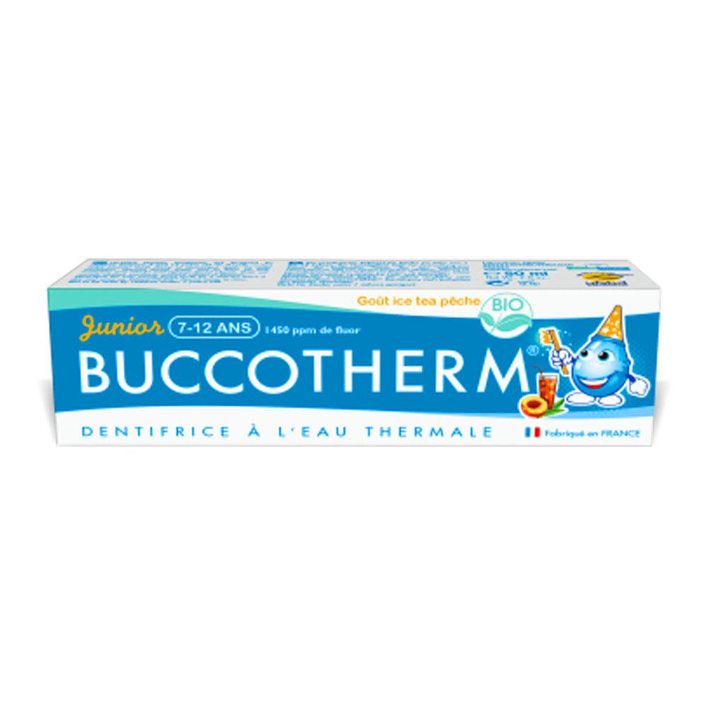 Buccotherm vaikiska dantu pasta gelis Junior Peach iced Tea 7-12 m.