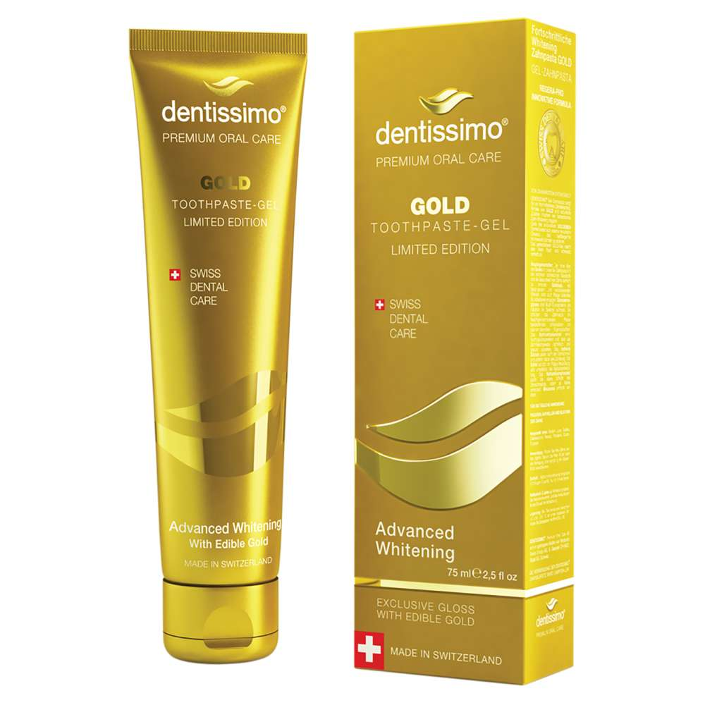 Dentissimo Gold Advanced Whitening balinanti dantu pasta